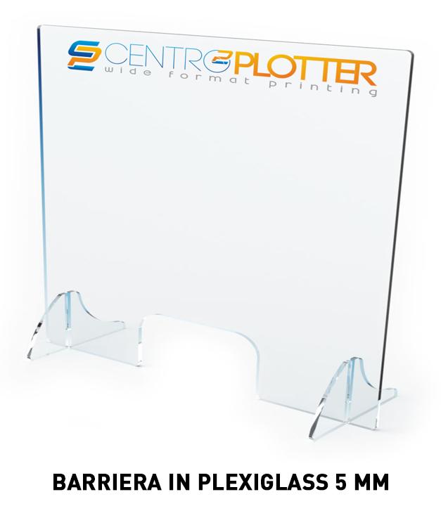Barriera di protezione in Plexiglas 5 mm COVID-19